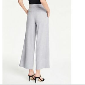 Ann Taylor Wide Leg Pleated Cropped Pants